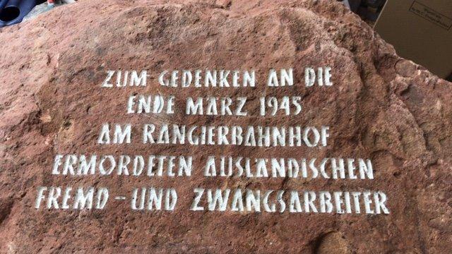 Gedenksteininschrift